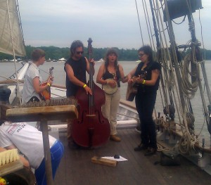 This was taken my first time leading a sail at Revival with Pocatello playing onboard.