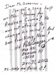 Pete Seeger Fracking letter 001