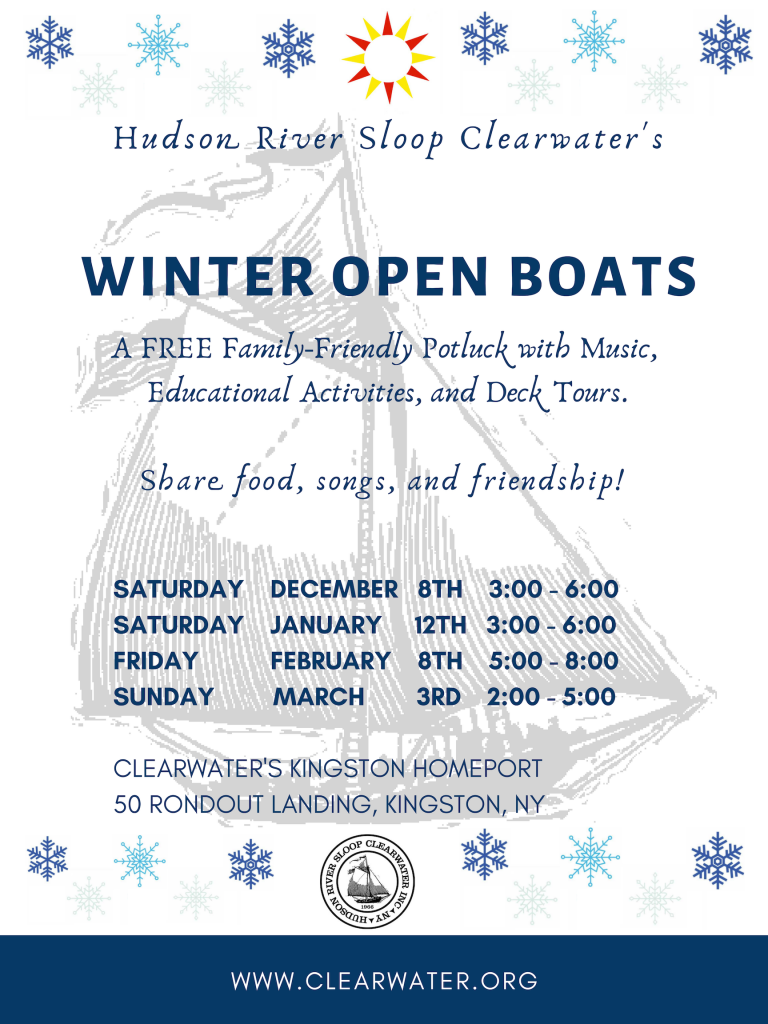 Clearwater's Winter Open Boat Schedule