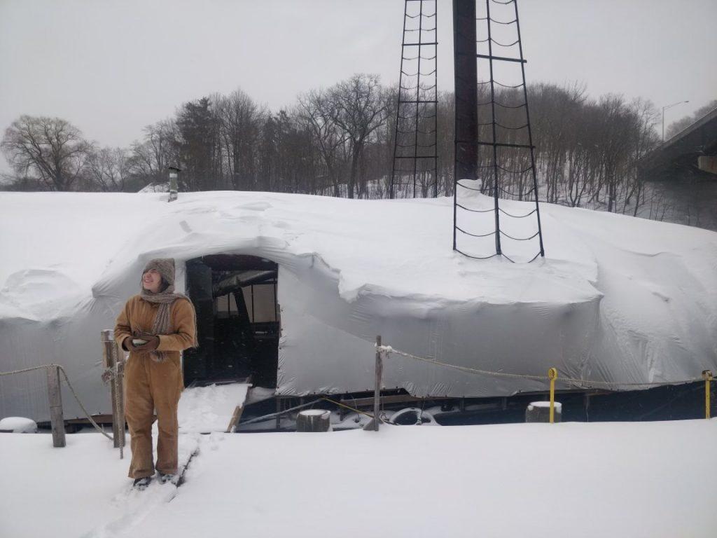 Snow-covered sloop December 2020